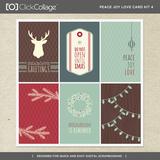 Peace Joy Love Card Kit 4