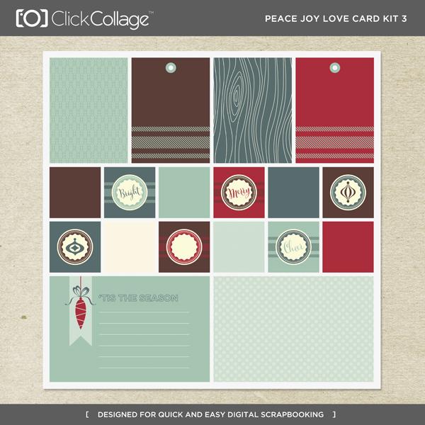 Peace Joy Love Card Kit 3