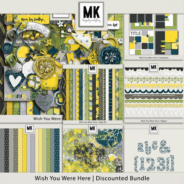 Wish You Were Here - Discounted Bundle Digital Art - Digital Scrapbooking Kits