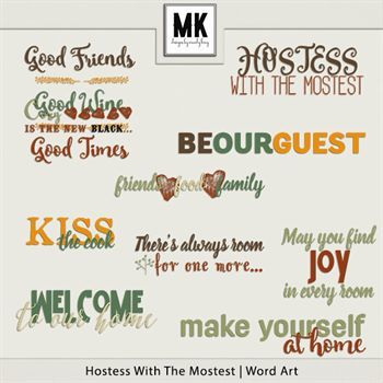 Hostess With The Mostest - Word Art