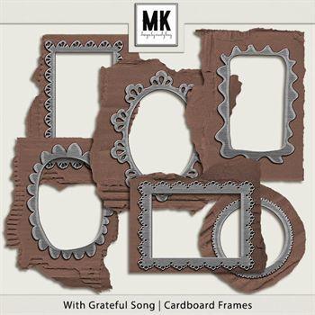 With Grateful Song - Cardboard Frames