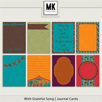With Grateful Song - Journal Cards