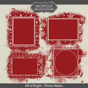 All Is Bright - Photo Masks Digital Art - Digital Scrapbooking Kits
