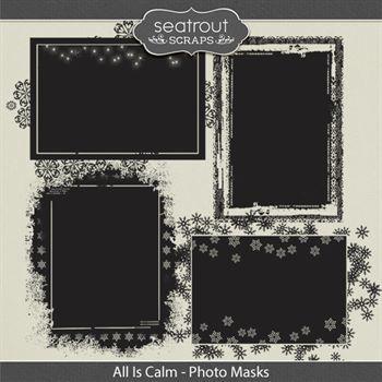 All Is Calm - Photo Masks Digital Art - Digital Scrapbooking Kits