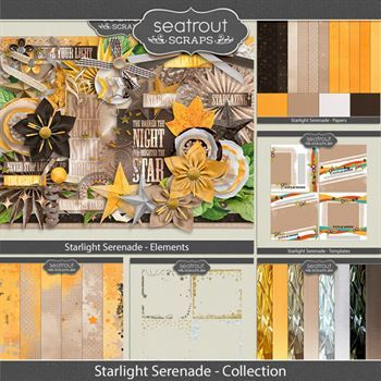 Starlight Serenade - Discounted Bundle Digital Art - Digital Scrapbooking Kits