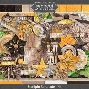 Starlight Serenade - Kit Digital Art - Digital Scrapbooking Kits