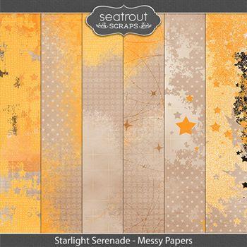 Starlight Serenade - Messy Papers Digital Art - Digital Scrapbooking Kits