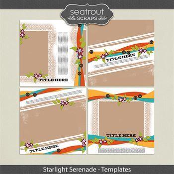 Starlight Serenade - Templates Digital Art - Digital Scrapbooking Kits