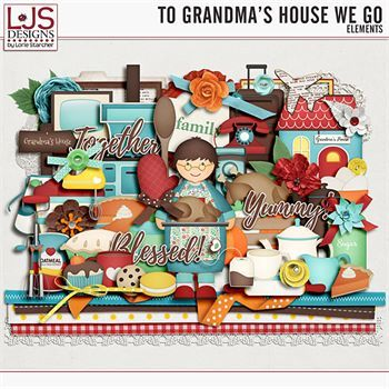To Grandma's House We Go - Elements Digital Art - Digital Scrapbooking Kits