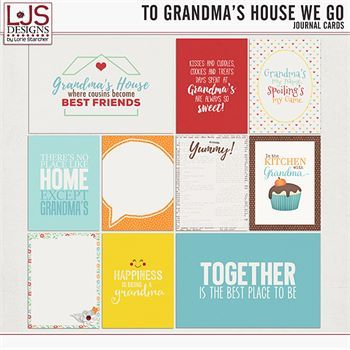 To Grandma's House We Go - Journal Cards Digital Art - Digital Scrapbooking Kits