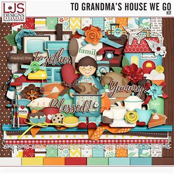 To Grandma's House We Go - Kit Digital Art - Digital Scrapbooking Kits