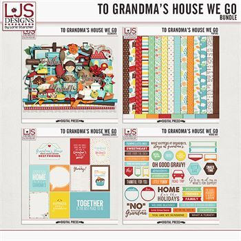 To Grandma's House We Go - Bundle Digital Art - Digital Scrapbooking Kits