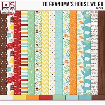 To Grandma's House We Go - Papers Digital Art - Digital Scrapbooking Kits
