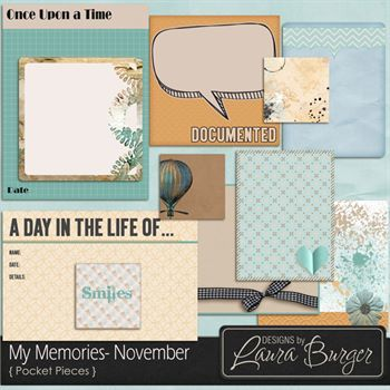 My Memories November Pocket Pieces