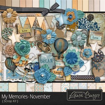 My Memories November Scrap Kit