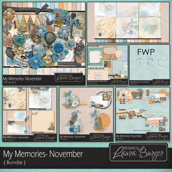 My Memories November Bundle Fwp Alphabets