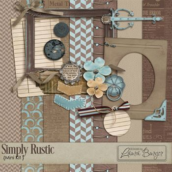 Simply Rustic Scrap Kit- Mini