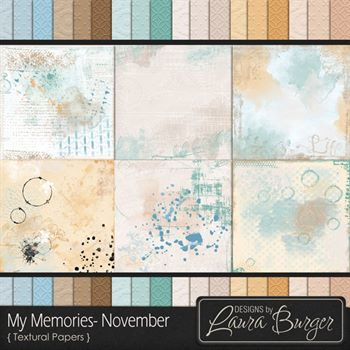 My Memories November Textural Papers
