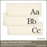 Vintage Flashcard Alphabet No. 03