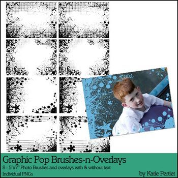 Graphic Pop Photo Brushes And Overlays