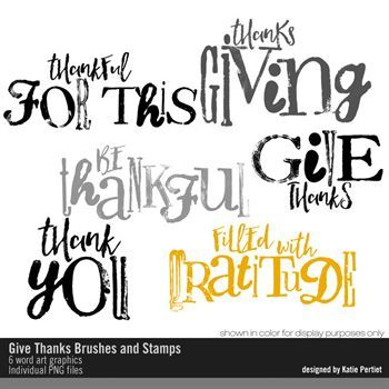 Give Thanks Brushes And Stamps