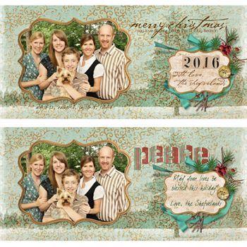 Merry Berry Holiday Cards Pak Digital Art
