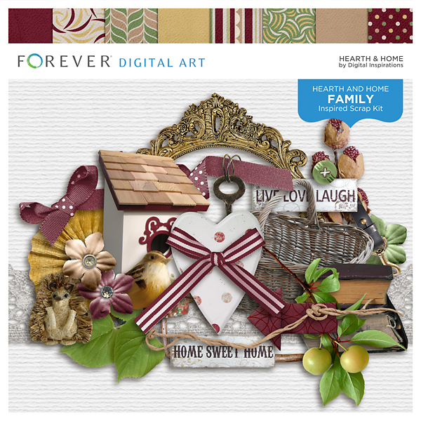 Hearth & Home Digital Art - Digital Scrapbooking Kits