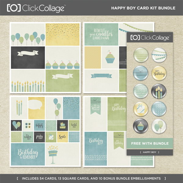 Happy Boy Card Kit Bundle