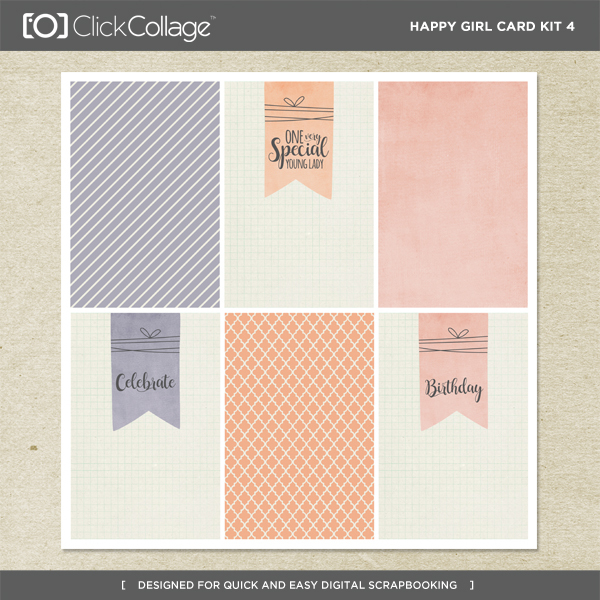 Happy Girl Card Kit 4