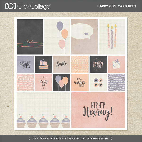 Happy Girl Card Kit 3