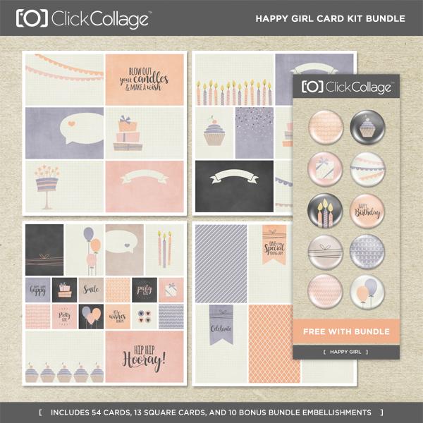 Happy Girl Card Kit Bundle