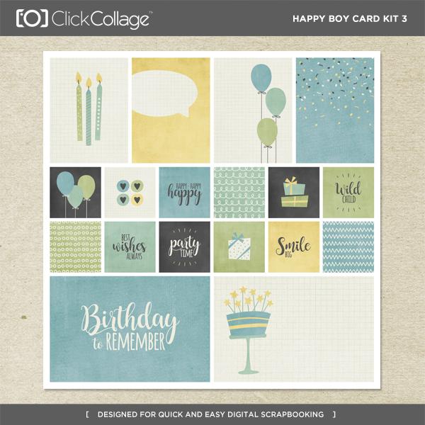 Happy Boy Card Kit 3