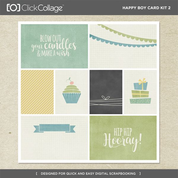 Happy Boy Card Kit 2