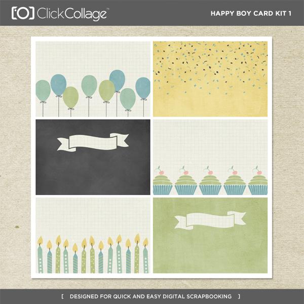 Happy Boy Card Kit 1