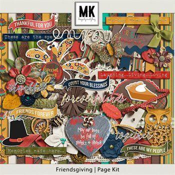 Friendsgiving - Page Kit