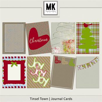 Tinsel Town - Journal Cards