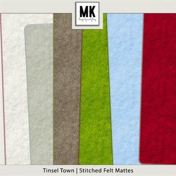 Tinsel Town - Stitched Felt Mattes