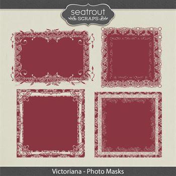 Victoriana Photo Masks Digital Art - Digital Scrapbooking Kits