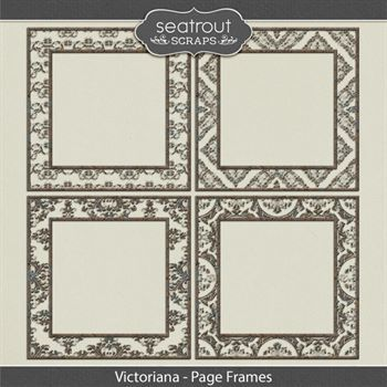 Victorianan Page Frames Digital Art - Digital Scrapbooking Kits