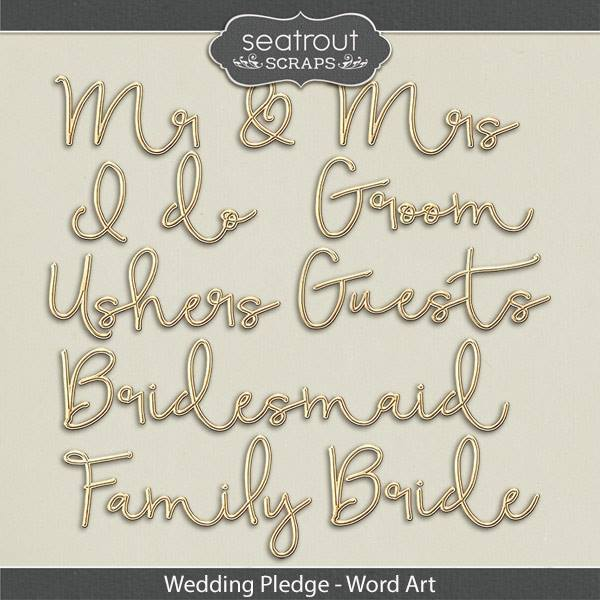 Wedding Pledge Word Art