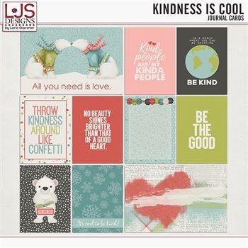 Kindness Is Cool - Journal Cards Digital Art - Digital Scrapbooking Kits