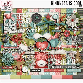 Kindness Is Cool - Kit Digital Art - Digital Scrapbooking Kits