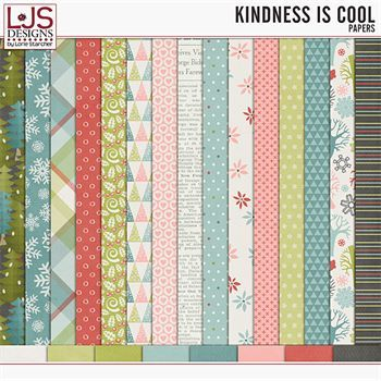 Kindness Is Cool - Papers Digital Art - Digital Scrapbooking Kits