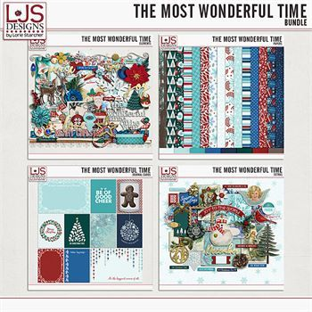 The Most Wonderful Time - Bundle Digital Art - Digital Scrapbooking Kits