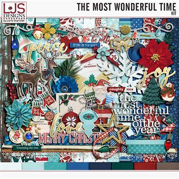 The Most Wonderful Time - Kit Digital Art - Digital Scrapbooking Kits