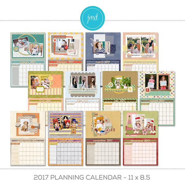 2017 Planning Calendar - 11x8.5