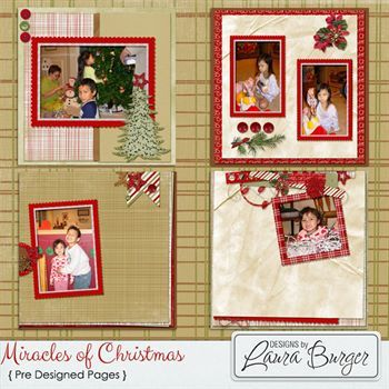 Miracles Of Christmas Pre Designed Pages