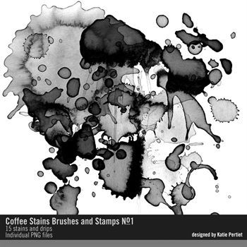 Coffee Stains Brushes And Stamps No. 01