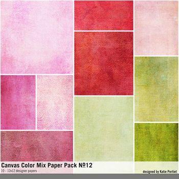 Canvas Color Mix Paper Pack No. 12