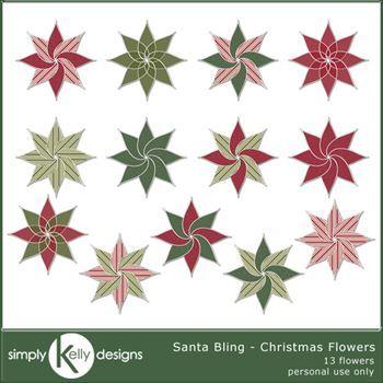 Santa Bling - Christmas Flowers